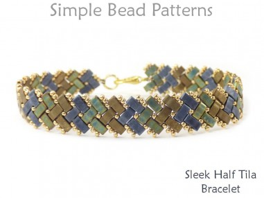 Half Tila Bracelet Pattern Two Hole Beads Bracelet Jewelry Making