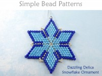 DIY Beaded Snowflake Christmas Tree Ornament with Delica Seed Beads