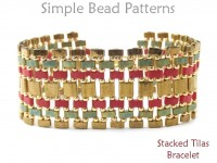 Tila Bead Bracelet Pattern with Two Hole Beads Jewelry Making Tutorial