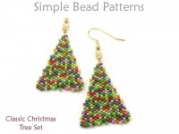 DIY Beaded Christmas Tree Earrings Necklace Peyote Stitch Tutorial