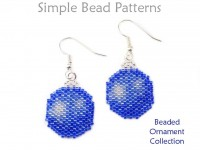 DIY Beaded Christmas Ornament Earrings Necklace Peyote Stitch Tutorial
