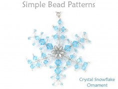 Beaded Swarovski Crystal Wire Snowflake Christmas Tree Ornament