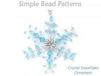 Beaded Swarovski Crystal Wire Snowflake Christmas Tree Ornament