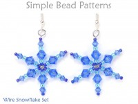Beaded Wire Snowflake Earrings and Pendant Necklace Beading Pattern