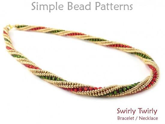 Swirly Beaded Pendant