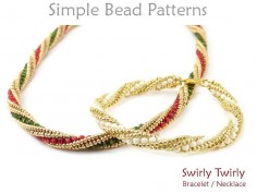 Twisted Herringbone Stitch Beaded Spiral Bracelet Necklace Tutorial