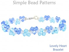 Crystal Beaded Heart Pattern Miyuki Tila Two Hole Beads Tutorial