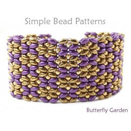 DIY Beaded Bracelet with SuperDuo Beads Jewelry Making Beading Pattern