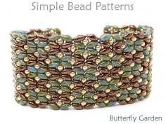 DIY Beaded Bracelet with SuperDuo Beads Jewelry Making Beading Pattern