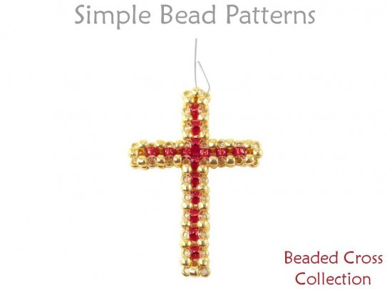 Beaded Cross Earrings Necklace Amp Christmas Ornament Raw