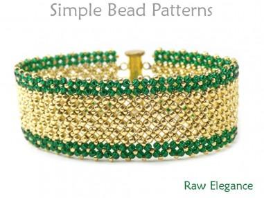 Beaded Slide Bracelet Pattern Right Angle Weave Tutorial