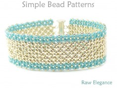 Beaded Slide Bracelet Pattern Right Angle Weave Tutorial