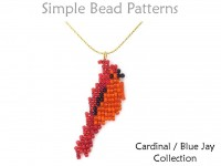 Beaded Bird Earrings Necklace Brooch Ornament Square Stitch Tutorial