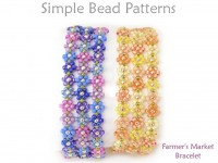 DIY Daisy Stitch Flower Bracelet with Seed Beads Beading Pattern