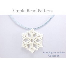 Beaded Snowflake Pattern DIY Earrings & Necklace Beading Tutorial