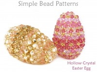 Crystal Beaded Easter Eggs Beading Pattern Spring Decor Tutorial