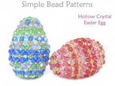 Crystal Beaded Easter Eggs Beading Pattern Spring Decor Tutorial