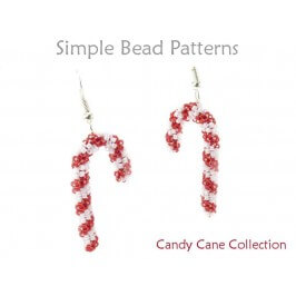 Beaded Candy Cane Earrings Necklace Bracelet Christmas Beading Pattern