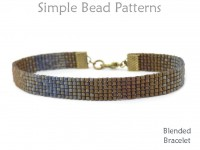 DIY Gradient Blend Seed Bead Bracelet Tutorial with Ribbon End Clamps
