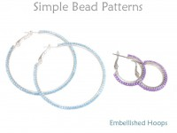 DIY Seed Bead Embellished Hoop Earrings Circular Brick Stitch Tutorial