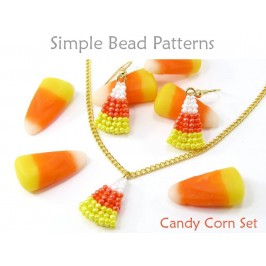 Halloween Jewelry Making Tutorial for Beaded Candy Corn Earrings & Necklace