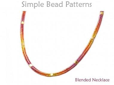 Tubular Herringbone Stitch Gradient Blend Beaded Necklace Tutorial