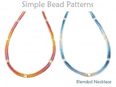 Tubular Herringbone Stitch Gradient Blend Beaded Necklace Tutorial