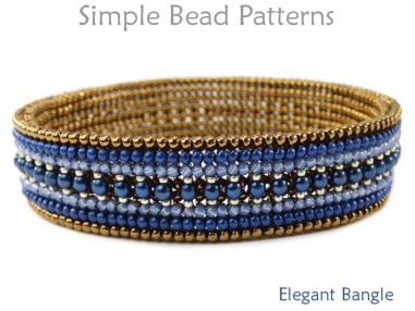 Beaded Bangle Bracelet Herringbone Stitch DIY Beading Pattern