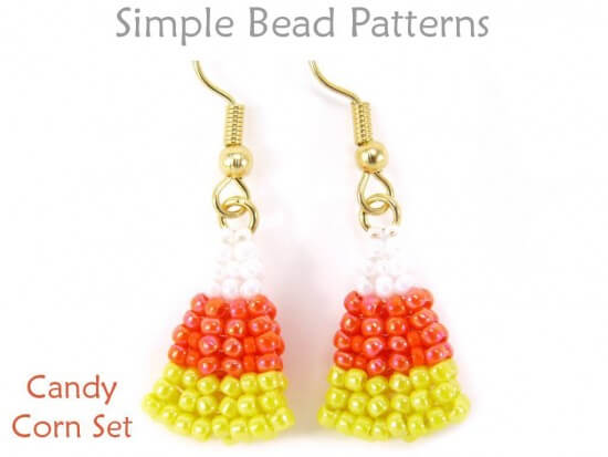 ade4d5bc0 Halloween Jewelry Making Tutorial for Beaded Candy Corn Earrings & Necklace