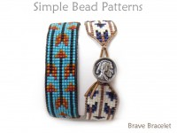 DIY Beaded Arrow Bracelet with Leather and a Button Clasp Tutorial
