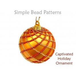 Netted Stitch Christmas Tree Ornament Pattern