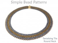 Half Tila Bead Pattern DIY Necklace Herringbone Stitch Tutorial