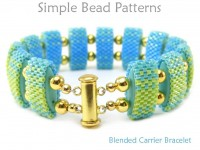 Carrier Bead Peyote Stitch Bracelet Tutorial with Blended Colors