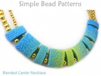 Carrier Bead Peyote Stitch Necklace Tutorial with Blended Colors