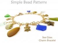 Make a Sea Glass Charm Bracelet Wire Working Chain Jewelry Tutorial
