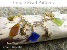 Make a Sea Glass Charm Bracelet Wire Working Chain Jewelry Tutorial