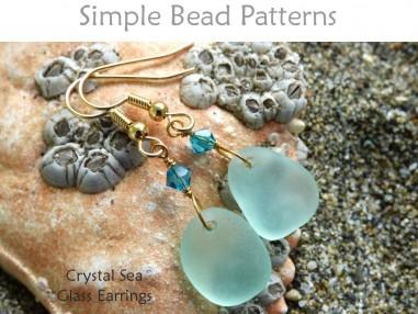 DIY Sea Glass Crystal Earrings Beach Glass Jewelry Making Tutorial