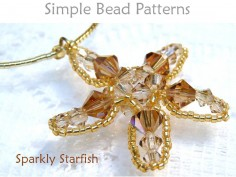 Beaded Starfish Pattern Crystal Necklace Tutorial