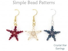 Beaded Crystal Star Earrings DIY Jewelry Making Beading Tutorial