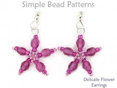 Beaded Flower Earrings Jewelry Making Beading Tutorial for Beginners