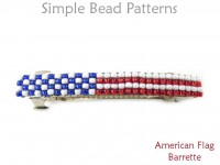 DIY Beaded Barrette with American Flag Design USA 4th of July Tutorial