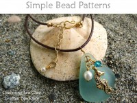 DIY Sea Glass Pendant Leather Necklace with Crystal & Charm Tutorial