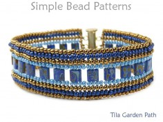 Tila Bracelet Herringbone Stitch Jewelry Making Beading Pattern