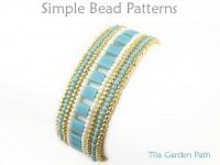 Tila Bracelet Herringbone Stitch Jewelry Making Beading Pattern