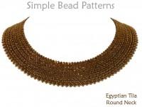 Half Tila Bead Pattern DIY Necklace Herringbone Stitch Tutorial