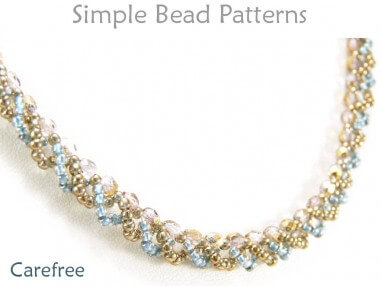 DIY Necklace Jewelry Making Beading Pattern to Make a Beaded Necklace