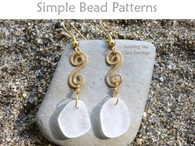 DIY Sea Glass Crystal Earrings Beach Glass Jewelry Making Tutorial