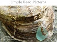 DIY Sea Glass Handmade Crystal Chain Necklace & Beach Charm Tutorial