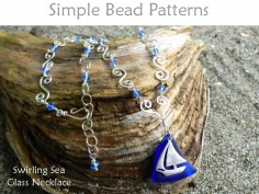 DIY Sea Glass Handmade Crystal Chain Necklace & Beach Charm Tutorial