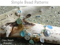 DIY Charm Bracelet with Beach Glass, Charms & Swarovski Crystal Links